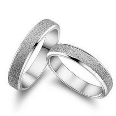 Auguston jewerly new design Texture frosted 925 sterling silver platinum plated women men`s couple rings ** Check out the image by visiting the link.