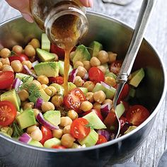 It's the freshest, tastiest, easiest summer salad recipe. You can make it in minutes! If you have tomatoes and cucumbers growing in your garden, now's the time to use them. Interestingly, this super-healthy salad is my most-shared recipe EVER on Facebook!