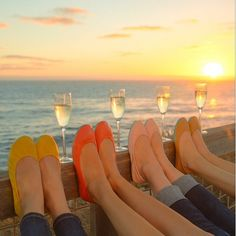 Bachelorette sunset with a little bubbly! The perfect way to end the day time beach celebration, and get the real party started! Bachlorette Party, Bachelorette Ideas, Portrait Poses, Jolie Photo, Friend Photos, Party Photos, Girls Night, Girls Weekend, Maid Of Honor