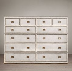 Even better.  From Resto: 2 stacked of these or side by side.  Each 71w x 51 h x 19d; White buffalo leather, brass trim