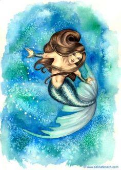 Selina Fenech Mermaid Art   mermaid blue sea bubbles Mermaid ©Selina FenechMermaid©