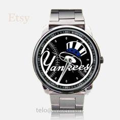 New York Yankees Logo Black Sport Metal Watch by telopolo on Etsy, $17.50