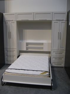 "Visit our web site for more relevant information on ""murphy bed diy"". It is actually a superb spot for more information. Murphy Bed Ikea, Murphy Bed Plans, Camas Murphy, Craft Room Desk, Diy Desk, Modern Murphy Beds, Guest Room Office, Guest Rooms, Bed Wall"