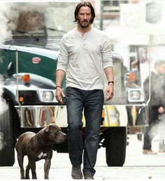 Keanu Reeves - John Wick 2 set (NYC) - December 2015
