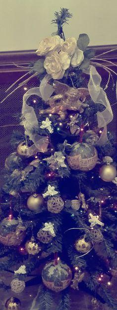 #natale2017 #shabbychic #alberodinatale #decorazionihandmade