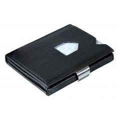 Art. EX 001 Black. EXENTRI TM wallet.  Genuine leather. Stainless steel lock.Delivered in an elegant box.