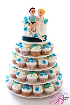 Bella Cupcakes: Great Summer Wedding this is such a cute idea im loving the cupcake ideas