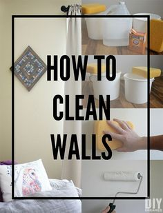 cleaning walls How to clean walls before starting to paint. Washing walls prior to applying paint is extremely important. Learn how to wash walls without using harsh chemicals. Cleaning Painted Walls, Cleaning Walls, Deep Cleaning Tips, Toilet Cleaning, House Cleaning Tips, Cleaning Solutions, Spring Cleaning, Cleaning Routines, Cleaning Checklist