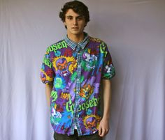 Goosebumps Mens Shirt  90s by ByAndie on Etsy, $45.00 /// www.art-by-ken.com