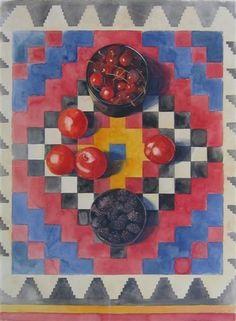Eileen Goodman - SUMMER FRUIT, 1988, watercolor