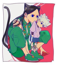 Illumi zoldyck and killua zoldyck cute Hunter x Hunter Killua, Hisoka, Hunter X Hunter, Hunter Anime, Gato Anime, Manga Anime, Zoldyck Family, Hxh Characters, Cute Anime Wallpaper