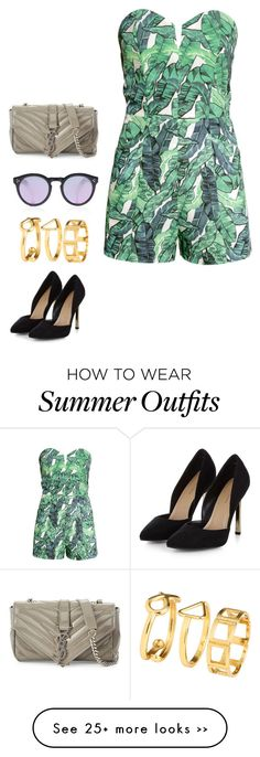"""Last summer outfit"" by angiedisa on Polyvore featuring Yves Saint Laurent, H&M, Illesteva and Summer"