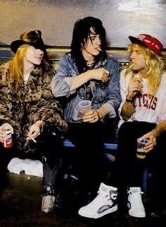 Young Guns: Axl Rose, Izzy Stradlin and Steven Adler of Guns N' Roses, mid '80s #axlrose #waxlrose #gnr #gunsnroses #rockstar #rockicon #bestsingerever #hottestmanalive #livinglegend