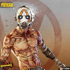 Borderlands Cosplay, Borderlands Art, Fallout New Vegas, Fallout 3, Psycho Tattoo, Video Game Logic, Warrior 2, Tattoo Project, Princess Mononoke
