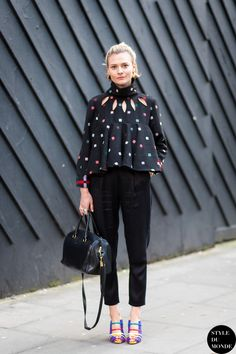 Pandora Sykes in All Saints Trousers