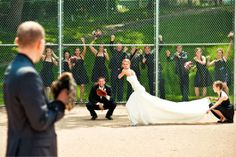 wedding ideas baseball wedding photo! I LOVE this! only I'd need Red Sox insignia in there somewhere lol