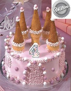 Knight Party or Princess Party Castle Cake