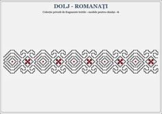 Semne Cusute: romanian traditional motifs - OLTENIA- Dolj & Roma... Folk Embroidery, Embroidery Patterns, Bargello, Hama Beads, Textile Art, Blackwork, Beading Patterns, Pixel Art, Cross Stitch