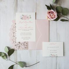 Bridesmaid proposal cards by digibuddha all things wedding elegant blush pink floral laser cut wedding invitation cards ewws173 stopboris Choice Image
