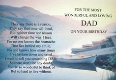Beautiful Collection of Happy Birthday in Heaven Quotes, Wishes, and Happy Birthday to Someone Who Passed Away. You can use any Birthday in Heaven greetings to show your love and respect. Happy Heavenly Birthday Dad, Birthday In Heaven Daddy, Birthday In Heaven Quotes, Daddy In Heaven, Happy Birthday Daddy, Birthday Poems, Birthday Wishes For Myself, Happy Birthday Quotes, Missing Dad In Heaven
