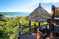 Thatched Villas in the Fiji Islands