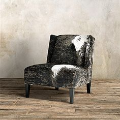 Scout Upholstered Armless Chair in Bessie Holstein