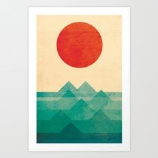 The ocean, the sea, the wave Art Print