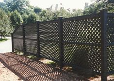 Wood & Vinyl Lattice Fence Variations Boston, MA   Homes Businesses Tennis Courts Gardens Patios