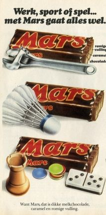 Reclame voor snoep Mars