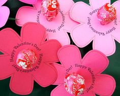 Printable Lollipop Flower for Valentine's, Mother's Day, Easter, May Day, Spring, etc.