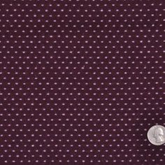 Plum/Lavender Polka-Dotted Wool-Polyester Suiting Fabric by the Yard | Mood…