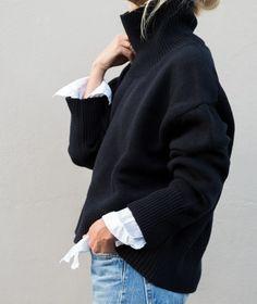 Mode Outfits, Fashion Outfits, Womens Fashion, Knit Fashion, Natural Fiber Clothing, Winter Mode, Look At You, Minimalist Fashion, Autumn Winter Fashion
