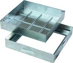 Schachtabdeckung PRO zum befüllen, Stahl feuerverzinkt, Wannentiefe 80 mm, Größe: 400 x 400 mm (Außenmaß) Tray, Tub, Fire, Steel, Trays, Board