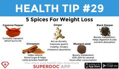 """ 5 Spices for Weight loss "" Heath Tips, Ginger Black, Daily Health Tips, Boost Metabolism, Mustard Seed, Spices, Weight Loss, Stuffed Peppers, Loosing Weight"