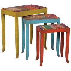 Hand Painted Nesting Tables