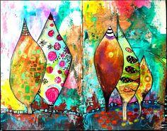 couleurs et mixed media: Art-Journal 2015 - J'ouvre les yeux - semaine 9
