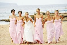 Pink Bridesmaid dresses strapless | Central Coast weddings by Impact Images | For more photos, check out www.impact-images.com.au #impactimagesnsw