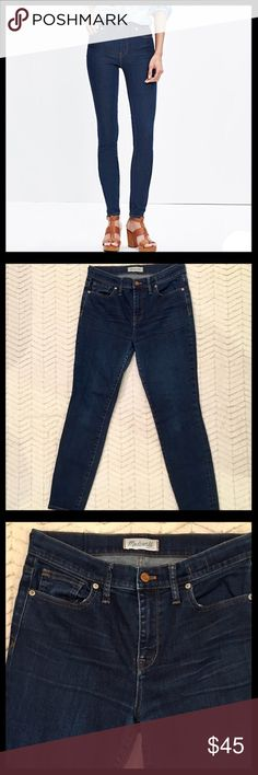 Madewell 10 inch High Riser Skinny Jeans This is a re-posh item.  The waist fit great but the jeans were to short.  Great Condition! Madewell Jeans Skinny
