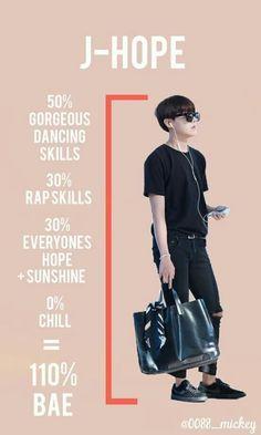 Woah Woah. More like 100% gorgeous dancing skills. 100% rap skills. 100% everyone's hope + sunshine. And yes 0% chill. So more like 300% bae!❤