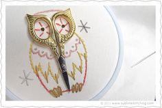 owl hoop sew, embroidery patterns, stitch pattern, embroideri scissor, owl scissor, scissors, craft idea, sublim stitch, owls