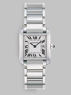 0291a7711b9 Cartier - Tank Francaise Stainless Steel Watch on Bracelet