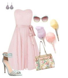 """""""Pastel Queen"""" by bellrae ❤ liked on Polyvore featuring Kaliko, Wet Seal, White House Black Market, ALDO, Office, Cotton Candy, Summer, contest, pastel and cottoncandy"""