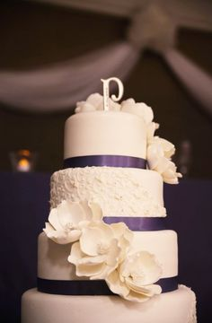 """Cake...that's it.  W/hot pink ribbon...going to find a silver """"W"""""""