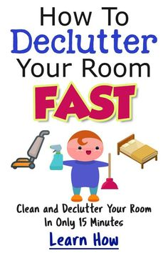 How To Declutter ANY Room in 15 Minutes Flat - Decluttering Your Life Small Pantry Organization, Clutter Organization, Bedroom Organization, Organisation Ideas, House Cleaning Tips, Cleaning Hacks, Clutter Control, Home Fix, Messy Room