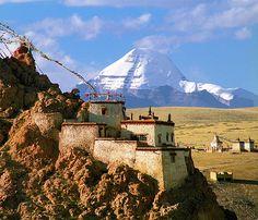 Chiu (Jiu) Gonpa and Gang Rinpoche,Mt. Kailash, Tibet
