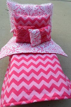 American Girl Doll Bedding 18 Inch Doll Bedding by sweetflutters, $26.00 Could make this.