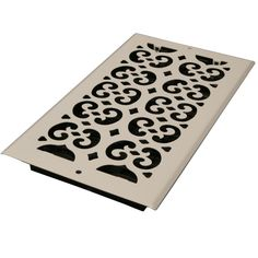 Decor Grates 6 In X 10 In White Steel Scroll Wall And Ceiling Register