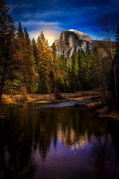 The Sun on Half Dome by Bartfett ~ Yosemite National Park, California**