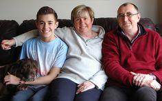 Danny, Sarah and Michael Wheeler at home