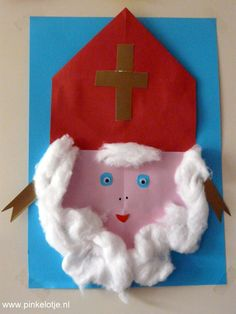 Sinterklaas knutselen - Sinterklaasfeest bij Pinkelotje - Disney Frozen, Diy For Kids, Crafts For Kids, Yarn Wrapped Letters, Origami, Diy And Crafts, Arts And Crafts, Saint Nicolas, Holidays Around The World